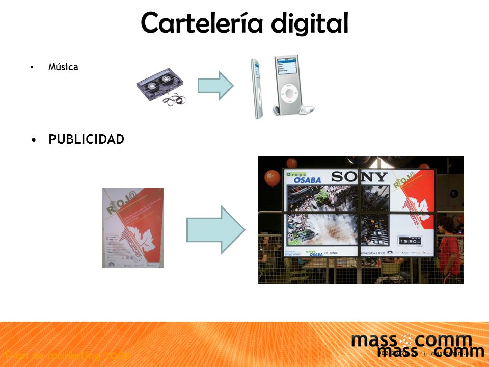 Plan de marketing 2008 Cartelería digital Música PUBLICIDAD