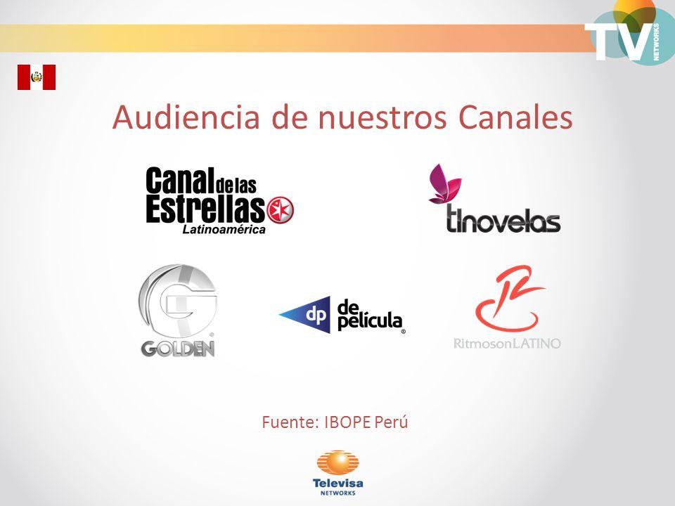 Composición de Audiencia TV de Paga/ Personas Universo 5,432,760 Fuente: IBOPE Perú Octubre-Diciembre 2011 Horario 6:00 a 24:00 Base Perú 68.71% 31.29%