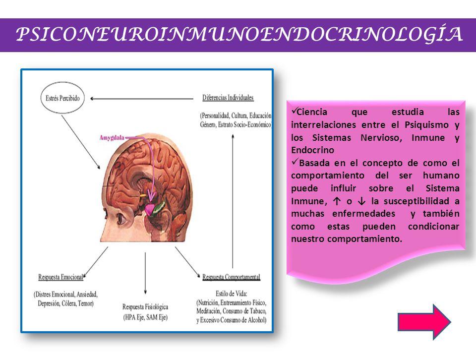 PSICONEUROINMUNOENDOCRINOLOGÍA Ciencia que estudia las interrelaciones entre el Psiquismo y los Sistemas Nervioso, Inmune y Endocrino Basada en el con