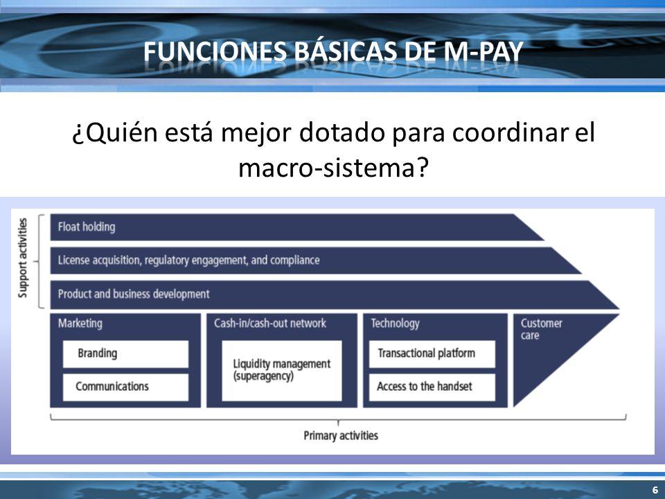 ¿Quién está mejor dotado para coordinar el macro-sistema 6