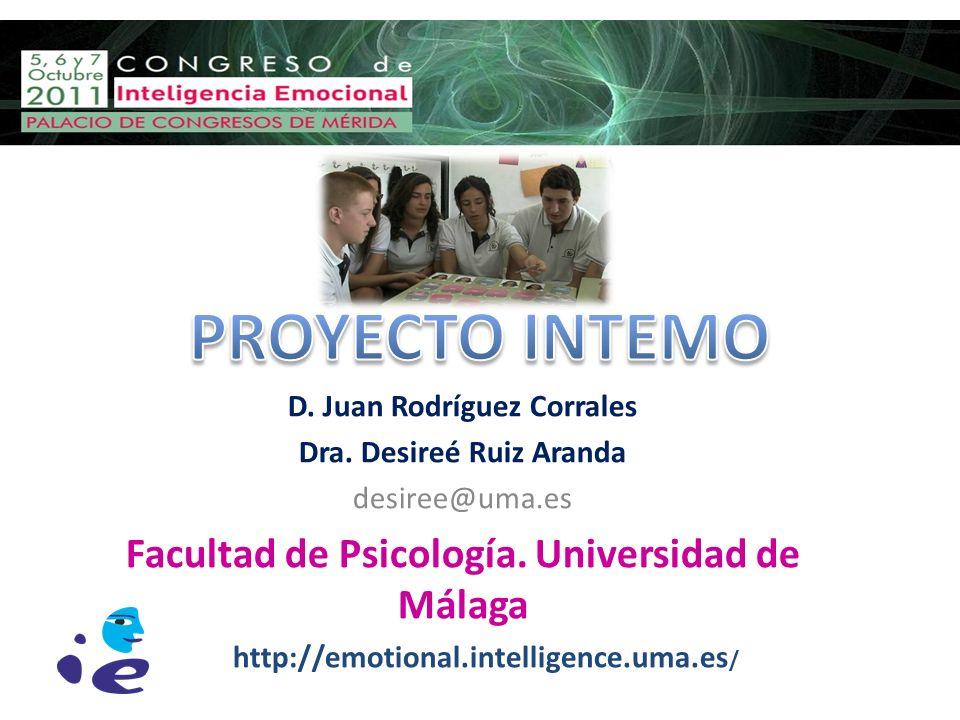 D. Juan Rodríguez Corrales Dra. Desireé Ruiz Aranda desiree@uma.es Facultad de Psicología. Universidad de Málaga http://emotional.intelligence.uma.es