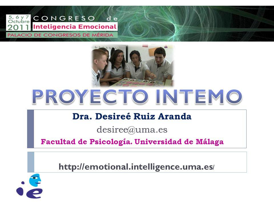 Dra. Desireé Ruiz Aranda desiree@uma.es Facultad de Psicología. Universidad de Málaga http://emotional.intelligence.uma.es /