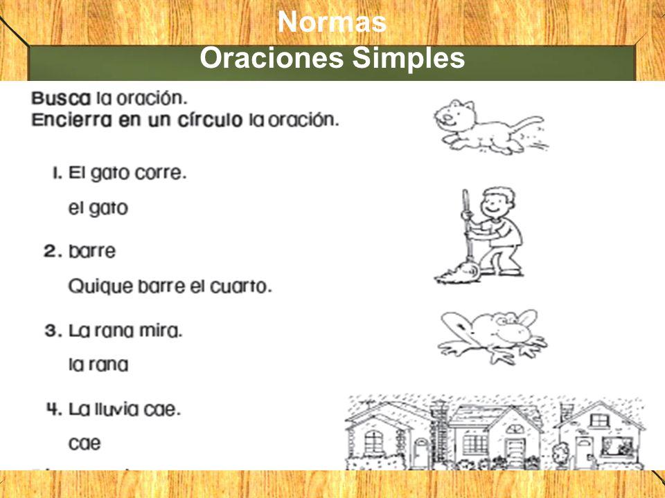 Normas Oraciones Simples