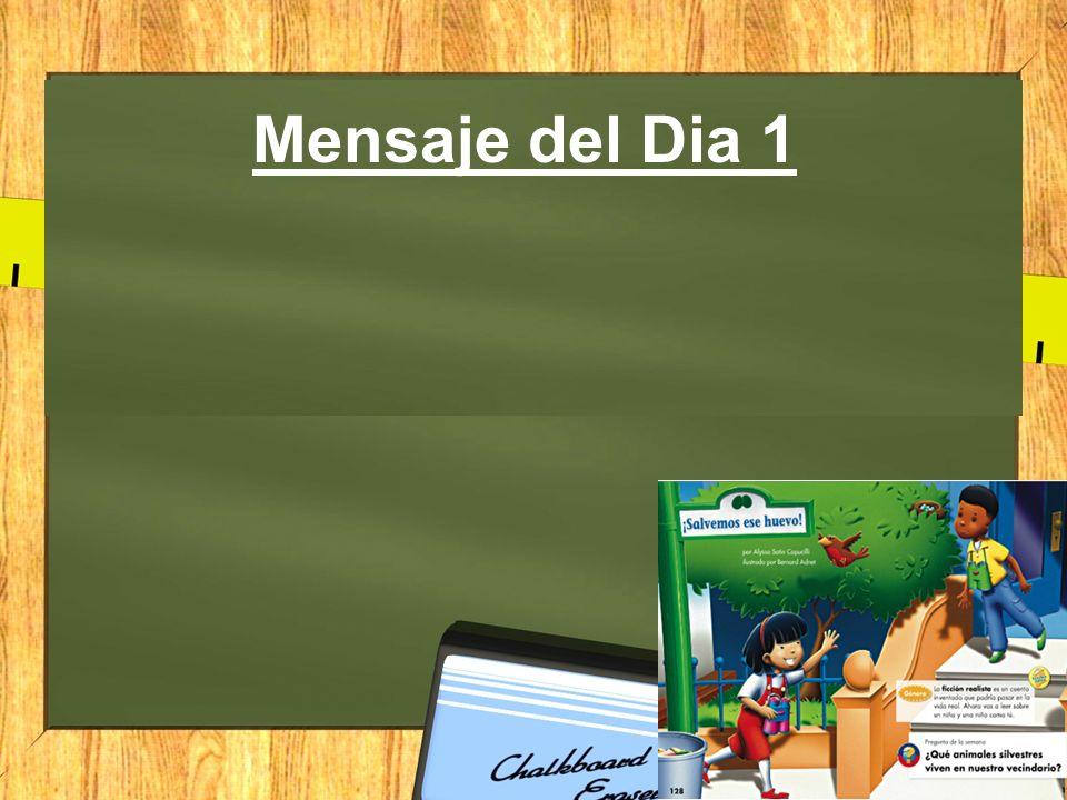 Mensaje del Dia 5 Buenos dias.Hoy es viernes el 11 de Diciembre del 2012.