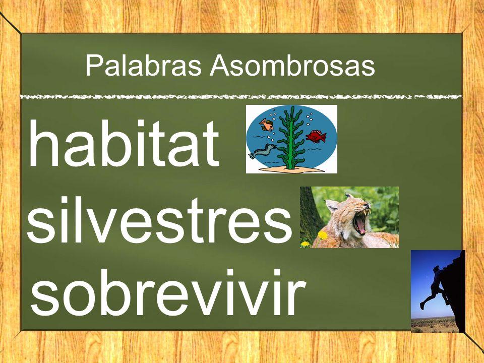 Palabras Asombrosas habitat silvestres sobrevivir