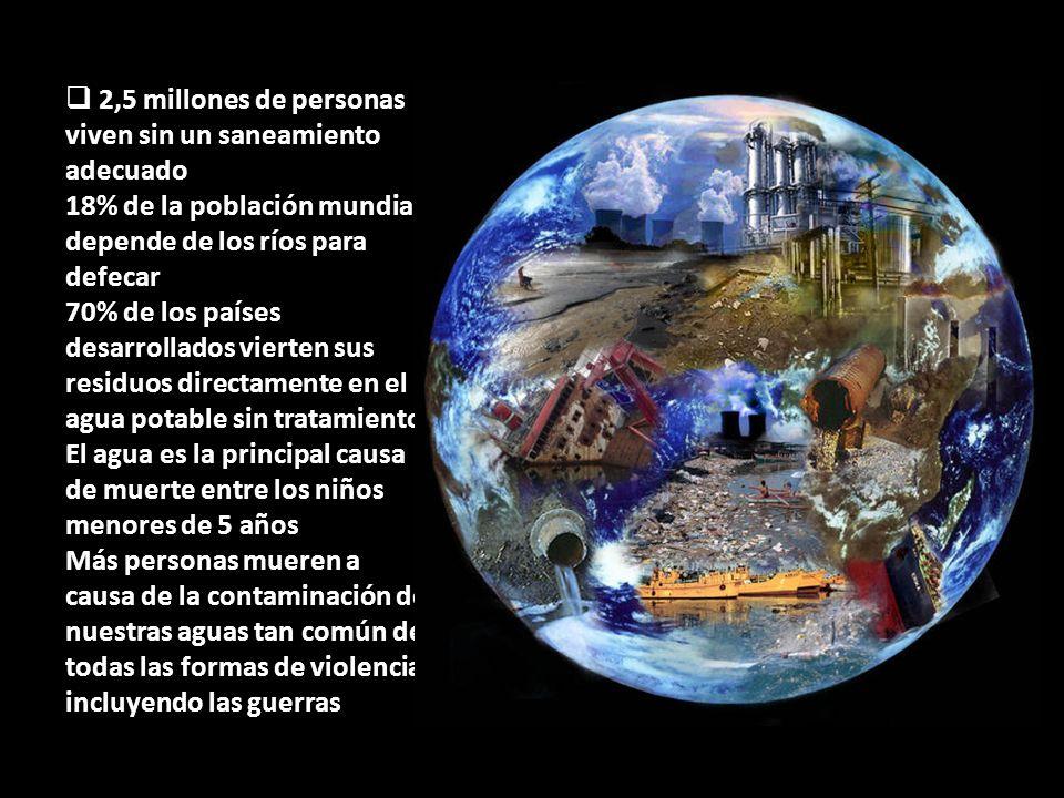 La contaminación de las aguas subterráneas por metales pesados, incluidos los productos químicos, que ahora afecta a todos los continentes.