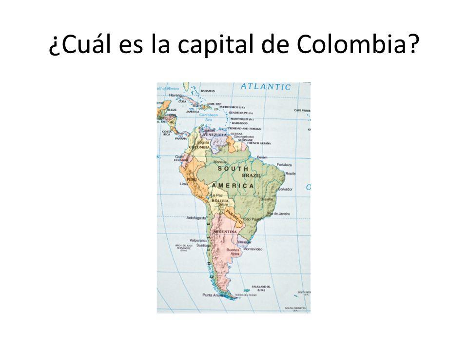 ¿Cuál es la capital de Colombia?