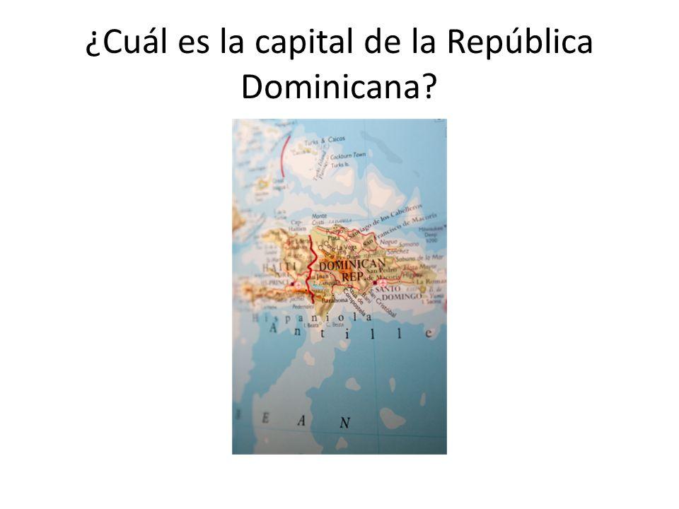 ¿Cuál es la capital de la República Dominicana?