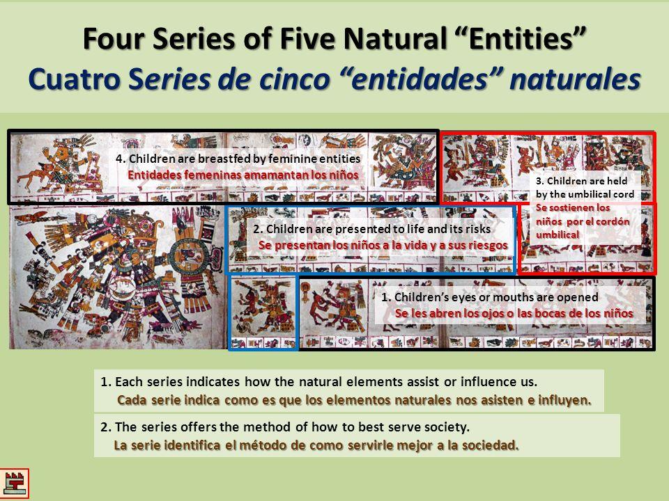 Four Series of Five Natural Entities Cuatro Series de cinco entidades naturales 2. Children are presented to life and its risks Se presentan los niños