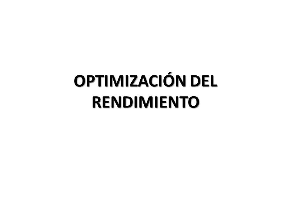 OBJETIVOS DEL RENDIMIENTO El objetivo de ajustar rendimiento consisten en proporcionar un tiempo de respuesta aceptable en las consultas al minimizar : Tráfico de red.