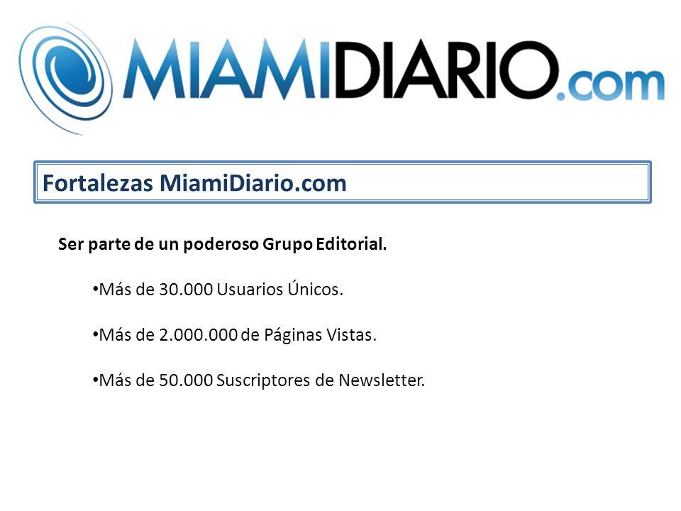 Ser parte de un poderoso Grupo Editorial. Más de 30.000 Usuarios Únicos.