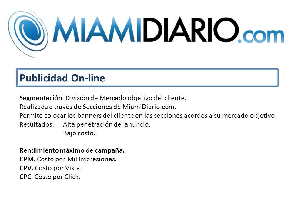 Publicidad On-line Segmentación. División de Mercado objetivo del cliente.