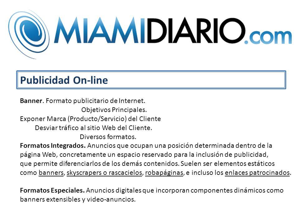 Publicidad On-line Banner. Formato publicitario de Internet.