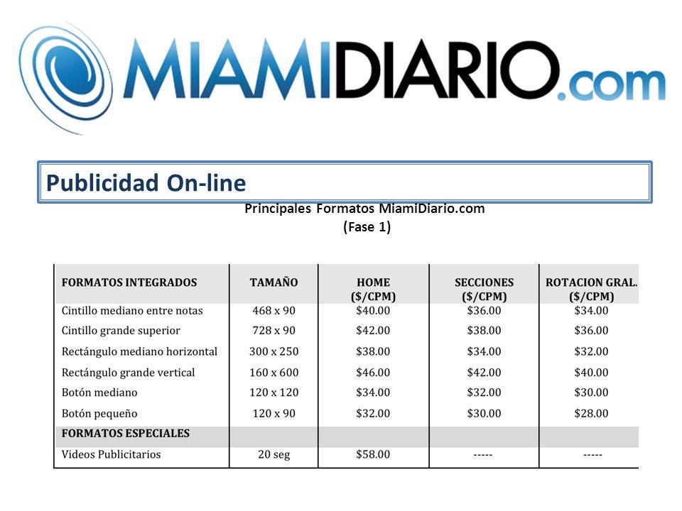 Publicidad On-line Principales Formatos MiamiDiario.com (Fase 1)
