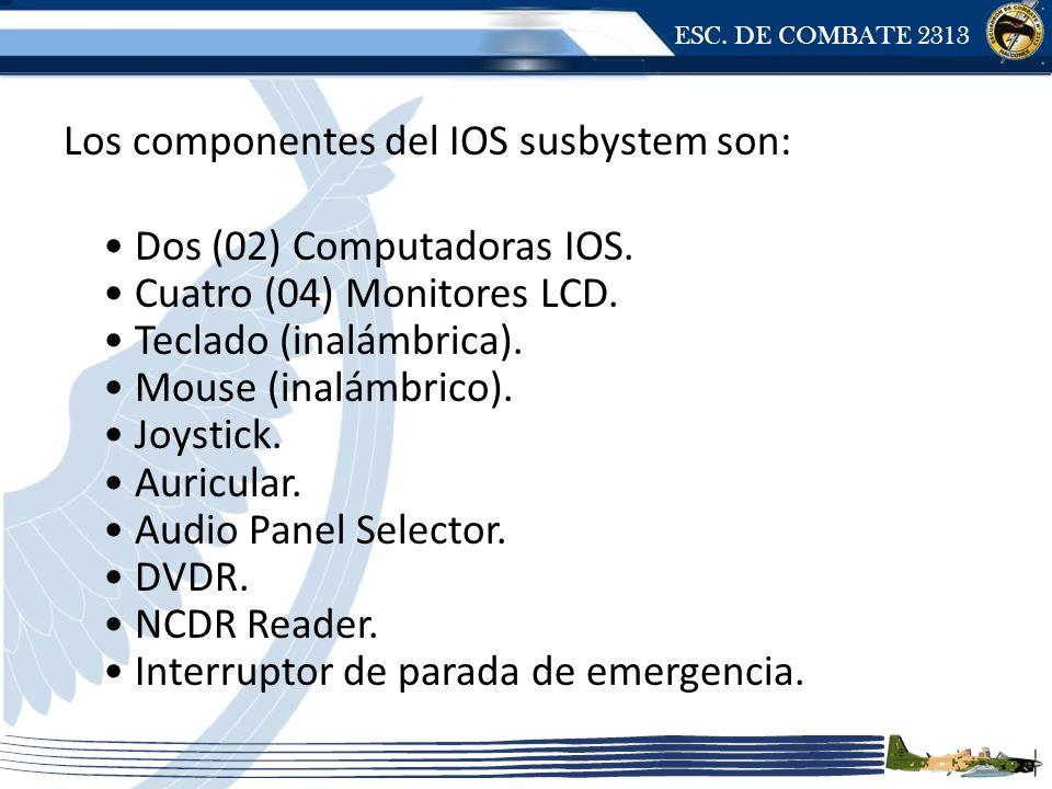 ESC. DE COMBATE 2313 Los componentes del IOS susbystem son: Dos (02) Computadoras IOS.