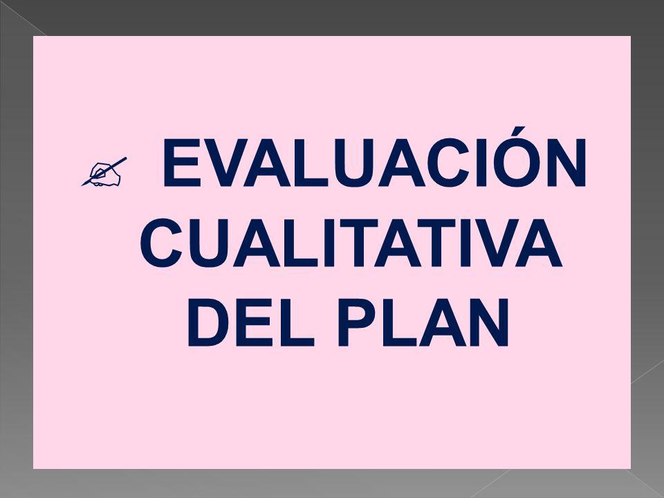 EVALUACIÓN CUALITATIVA DEL PLAN