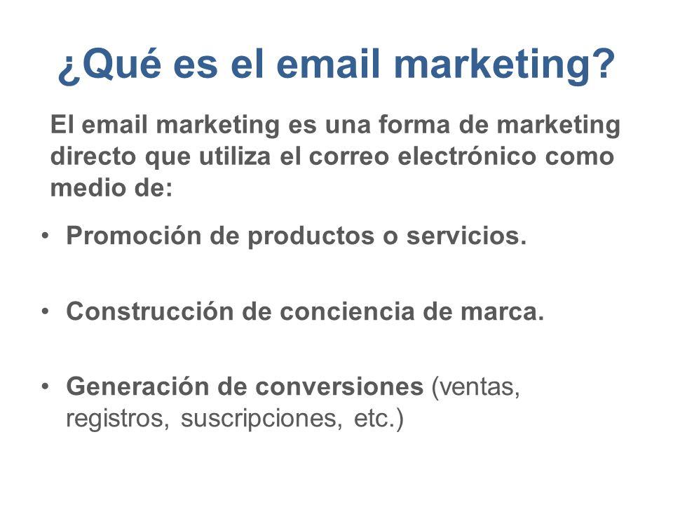 ¿Qué es el email marketing.Promoción de productos o servicios.