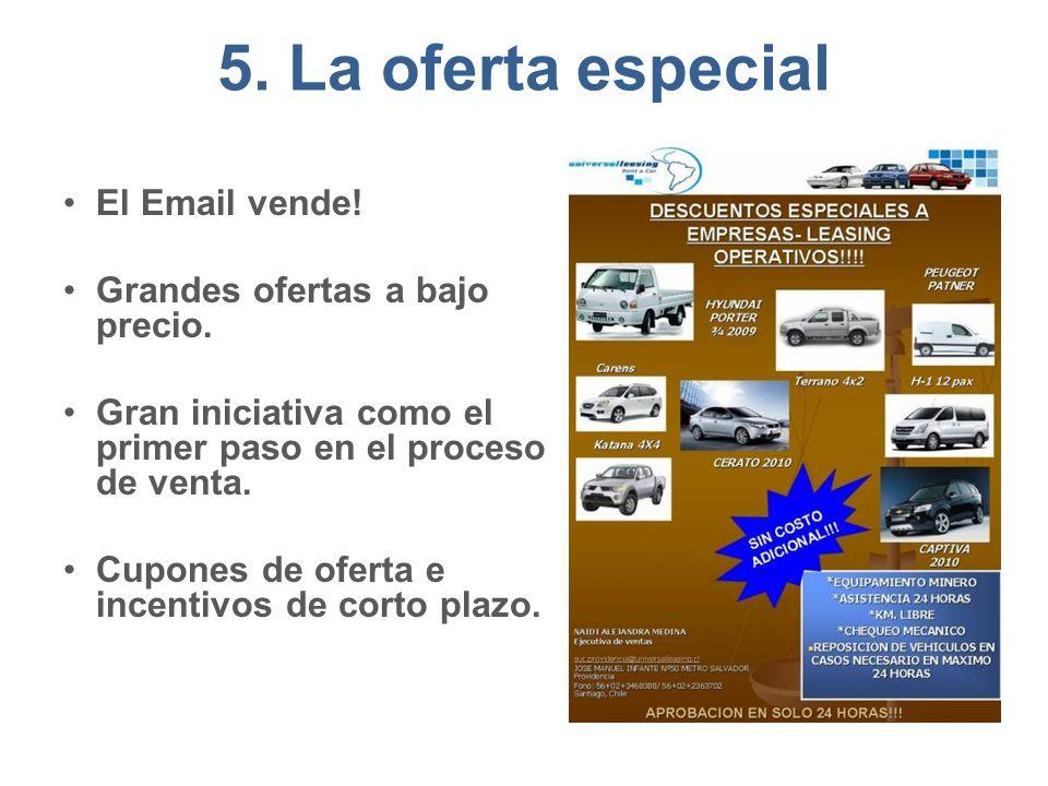 5.La oferta especial El Email vende. Grandes ofertas a bajo precio.