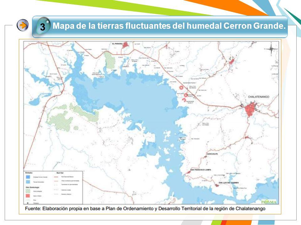 Mapa de la tierras fluctuantes del humedal Cerron Grande. 3