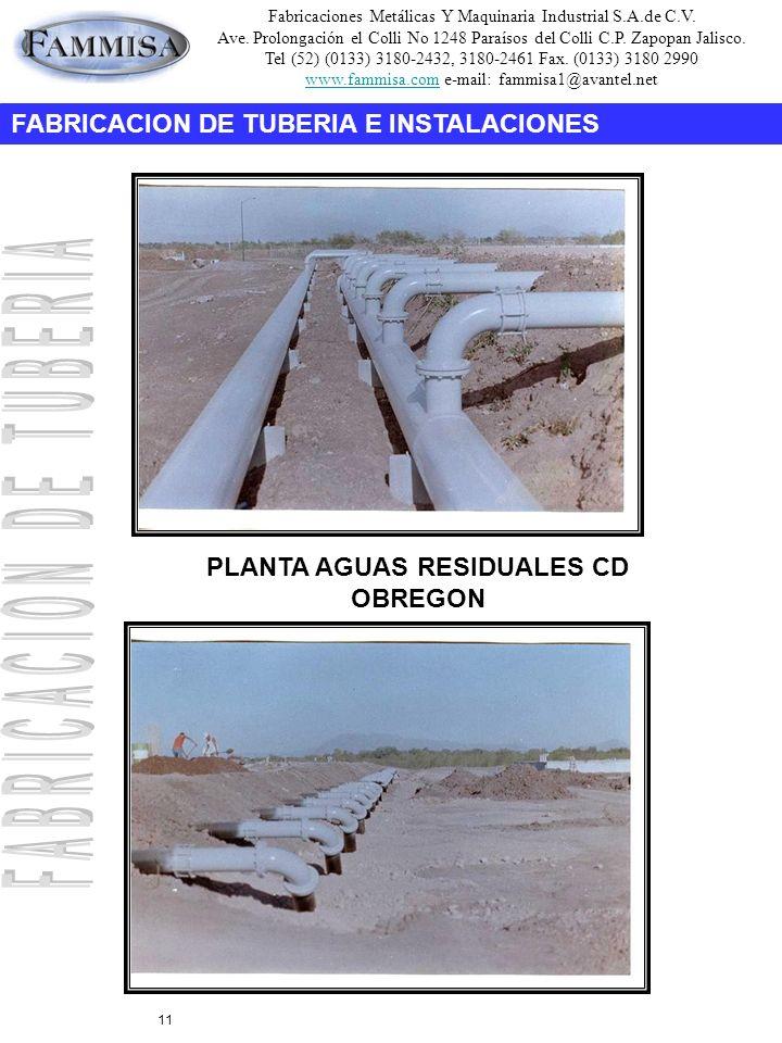 Fabricaciones Metálicas Y Maquinaria Industrial S.A.de C.V. Ave. Prolongación el Colli No 1248 Paraísos del Colli C.P. Zapopan Jalisco. Tel (52) (0133