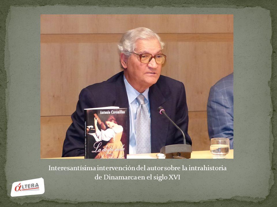 Interesantísima intervención del autor sobre la intrahistoria de Dinamarca en el siglo XVI