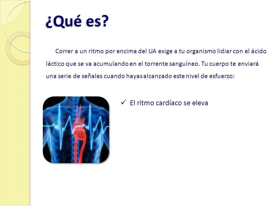 ¿Qué es? Correr a un ritmo por encima del UA exige a tu organismo lidiar con el ácido láctico que se va acumulando en el torrente sanguíneo. Tu cuerpo