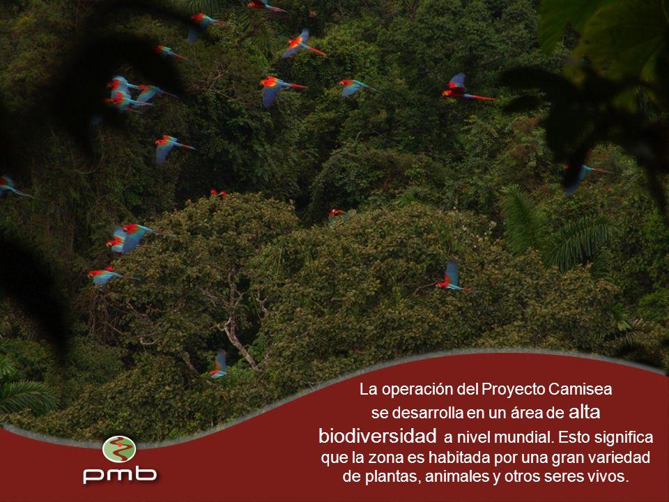 La operación del Proyecto Camisea se desarrolla en un área de alta biodiversidad a nivel mundial.