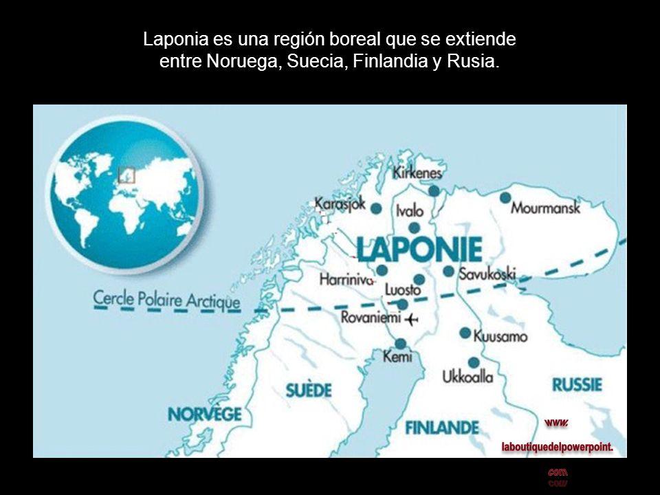 Laponia es una región boreal que se extiende entre Noruega, Suecia, Finlandia y Rusia.
