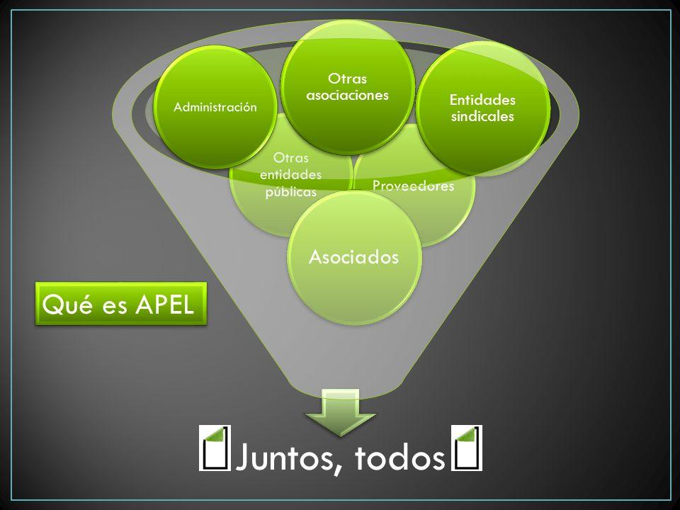 Juntos, todos Asociados Otras asociaciones Entidades sindicales Qué es APEL