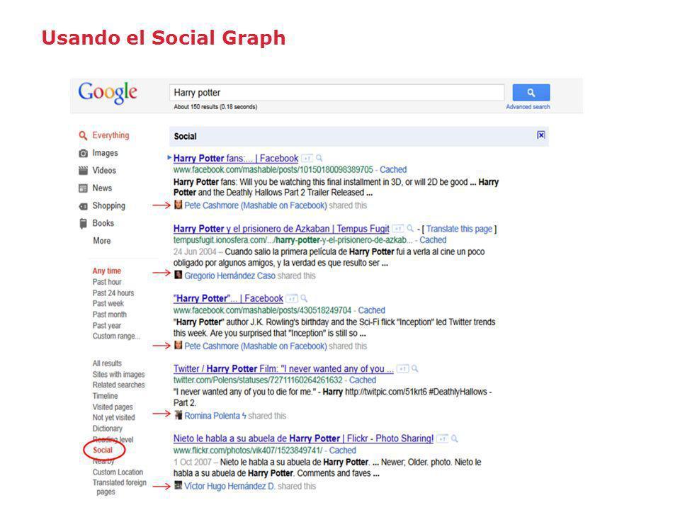 Usando el Social Graph