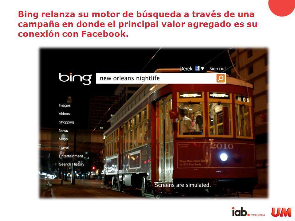 Bing relanza su motor de búsqueda a través de una campaña en donde el principal valor agregado es su conexión con Facebook.