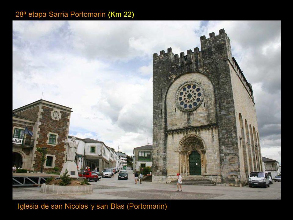 27ª etapa O Cebreiro Sarria (Km 29,5) Iglesia del Salvador Sarria