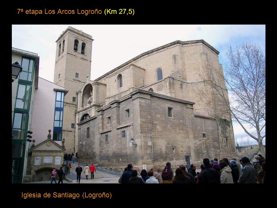 6ª Etapa Estella los Arcos (Km 20,5) Iglesia de Santa María. Estilos románico tardío y protogótico hasta el renacimiento y el barroco. (Los Arcos)