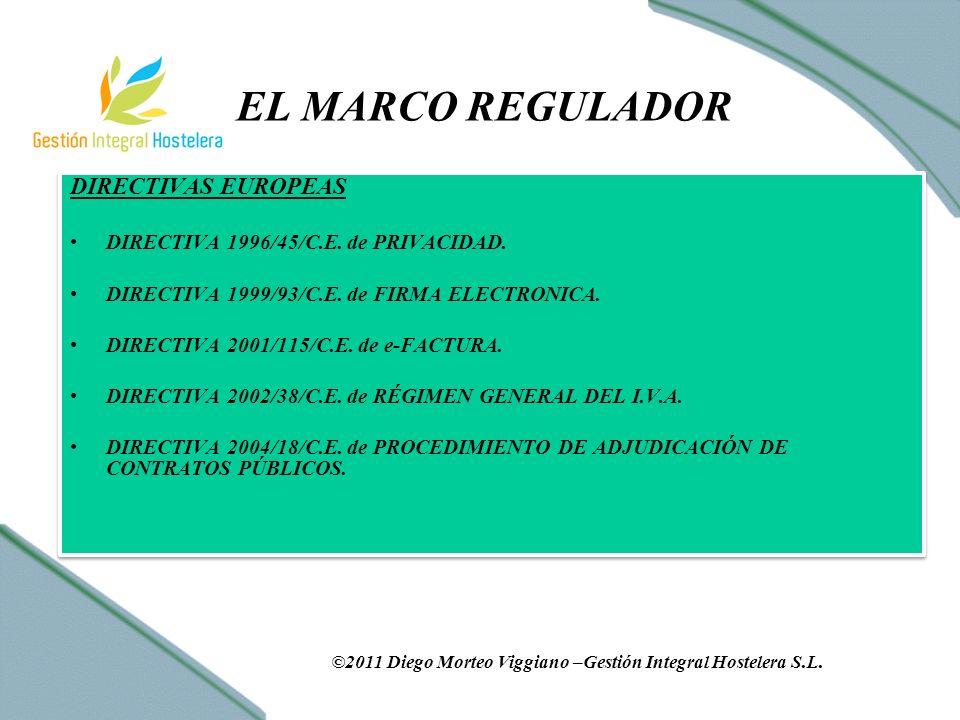 EL MARCO REGULADOR DIRECTIVAS EUROPEAS DIRECTIVA 1996/45/C.E.