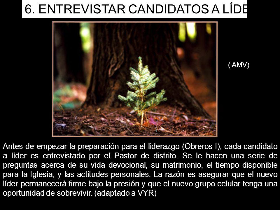 Antes de empezar la preparación para el liderazgo (Obreros I), cada candidato a líder es entrevistado por el Pastor de distrito.