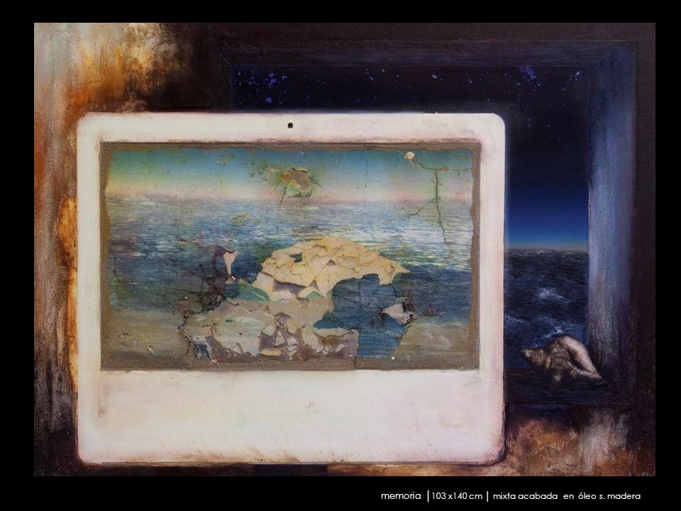 memoria 103 x140 cm mixta acabada en óleo s. madera