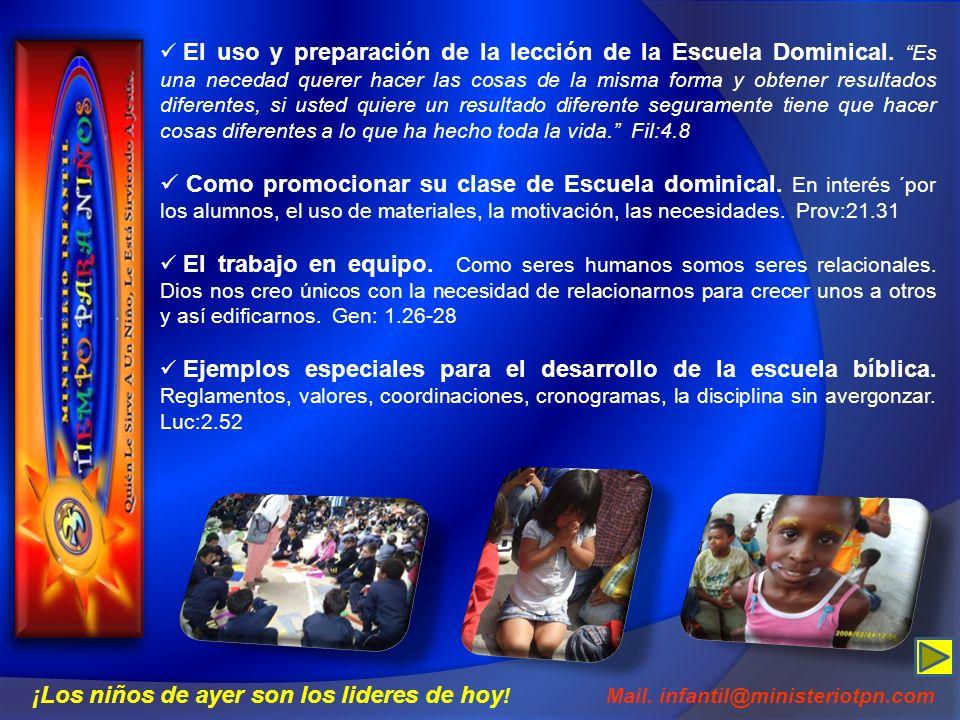 El uso y preparación de la lección de la Escuela Dominical. Es una necedad querer hacer las cosas de la misma forma y obtener resultados diferentes, s