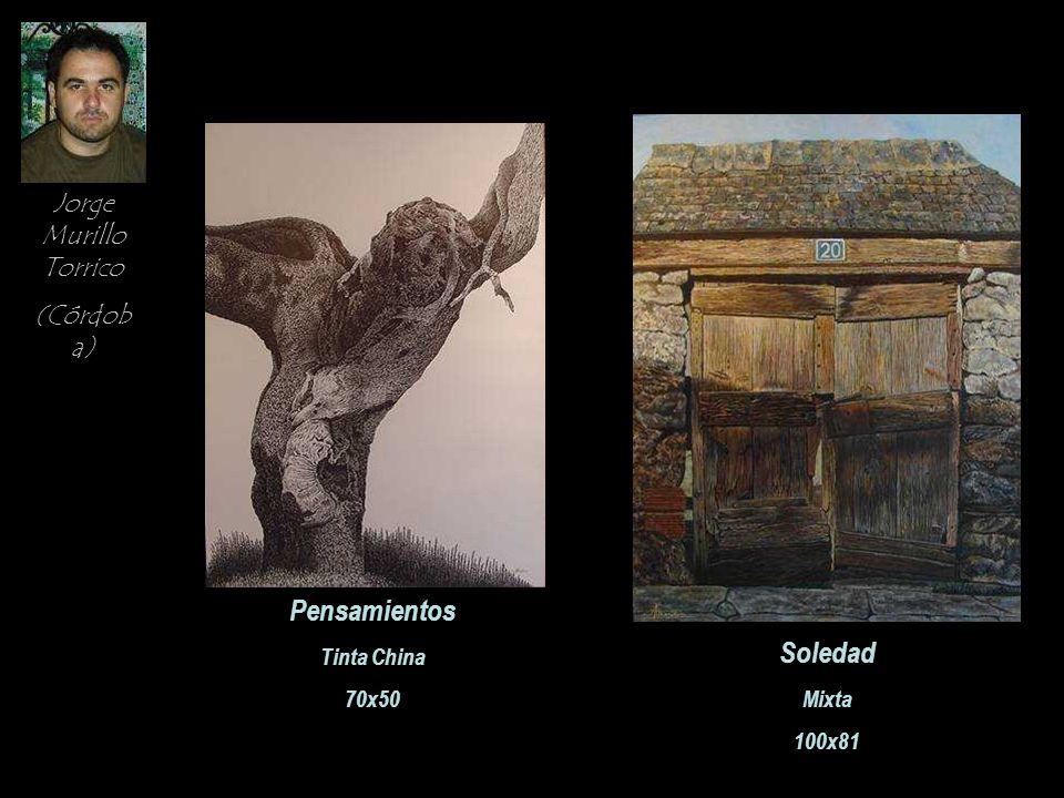 Jorge Murillo Torrico (Córdob a) Pensamientos Tinta China 70x50 Soledad Mixta 100x81