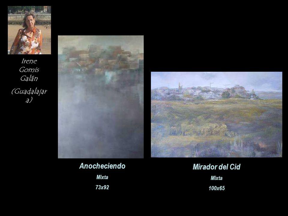 Irene Gomis Galán (Guadalajar a) Anocheciendo Mixta 73x92 Mirador del Cid Mixta 100x65