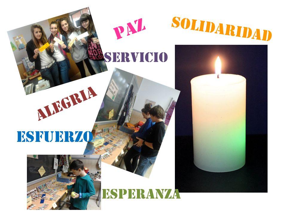 solidariDAD Tienda Solidaria PAZ alegria esperanZa solidariDAD ESFUERZO servICIO