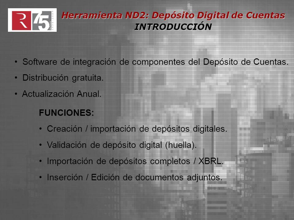 Software de integración de componentes del Depósito de Cuentas.