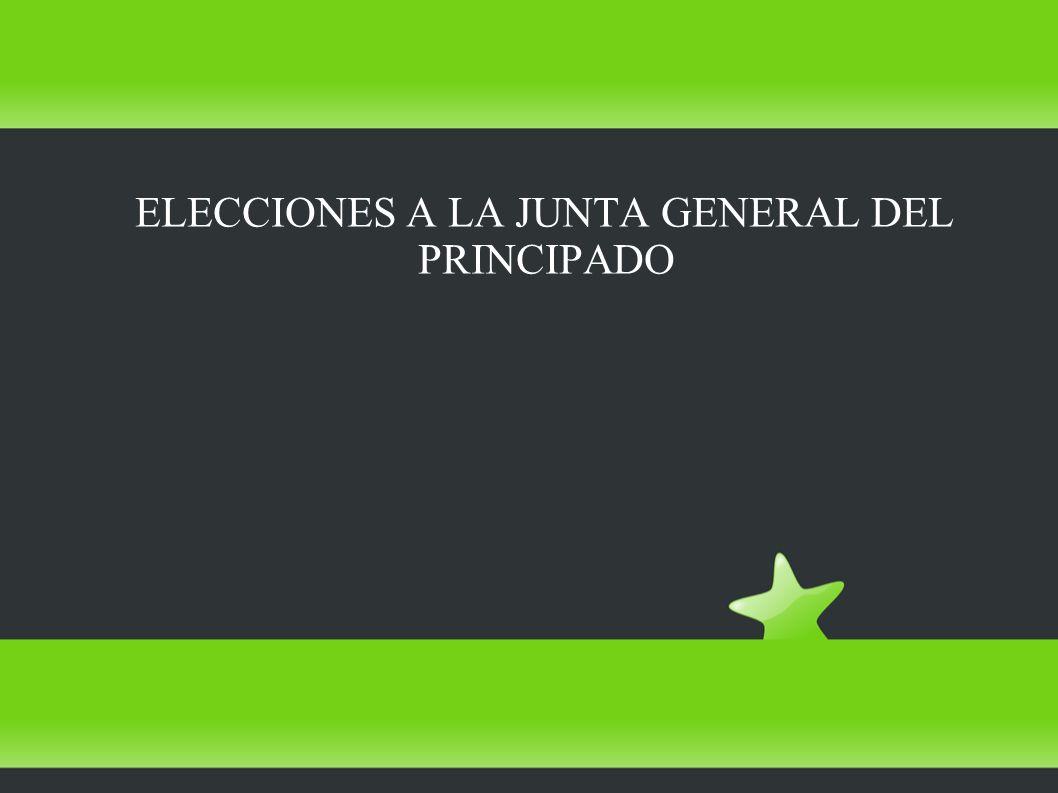 ELECCIONES A LA JUNTA GENERAL DEL PRINCIPADO
