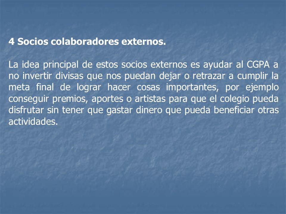 4 Socios colaboradores externos.