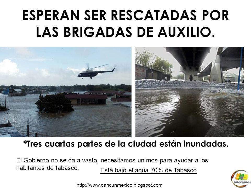 http://www.cancunmexico.blogspot.com ¿Alguna vez te has quedado atrapado por el agua? 300,000 habitantes continúan atrapados en sus hogares. 750,000 h