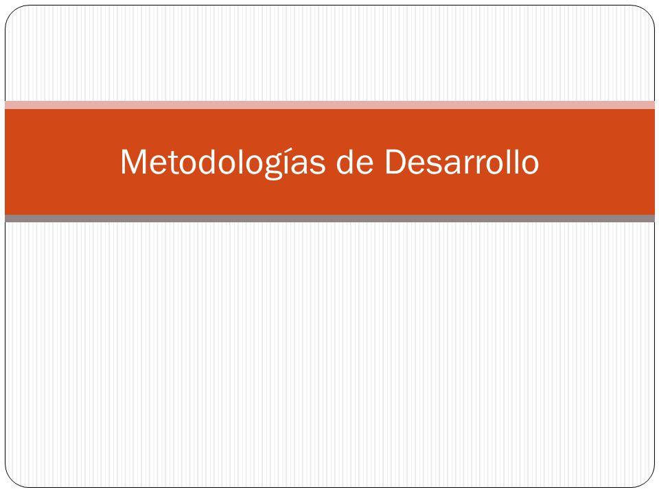 Metodologías de Desarrollo