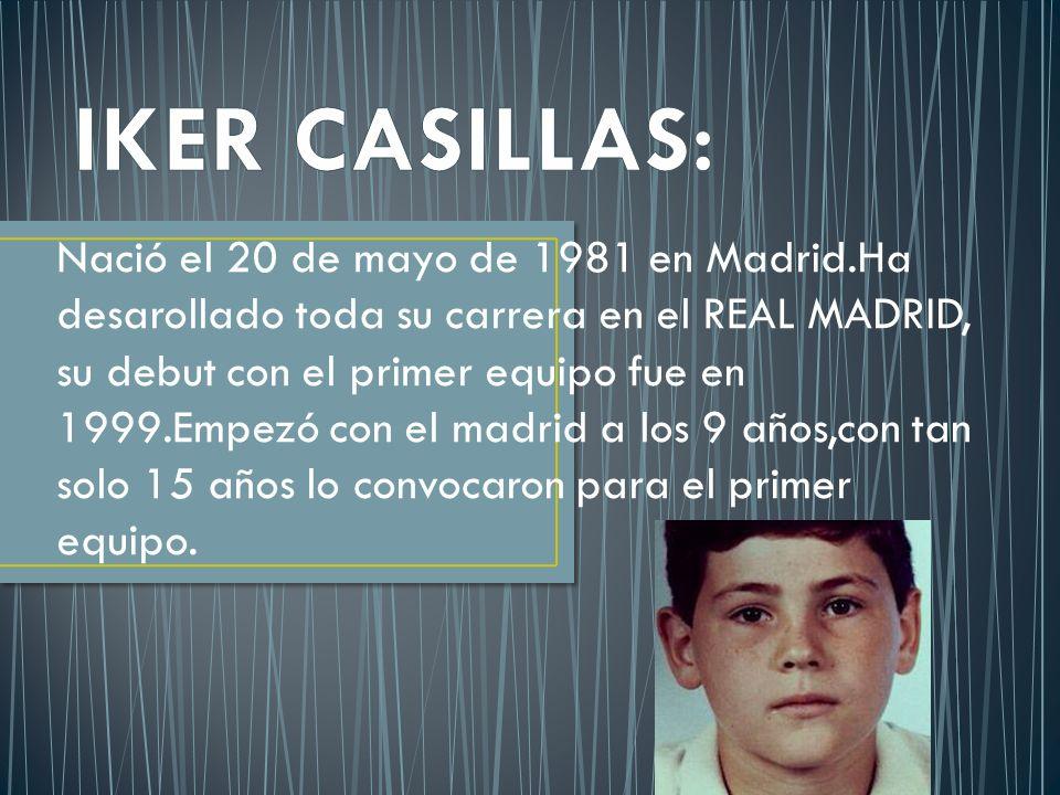 Nació el 20 de mayo de 1981 en Madrid.Ha desarollado toda su carrera en el REAL MADRID, su debut con el primer equipo fue en 1999.Empezó con el madrid a los 9 años,con tan solo 15 años lo convocaron para el primer equipo.