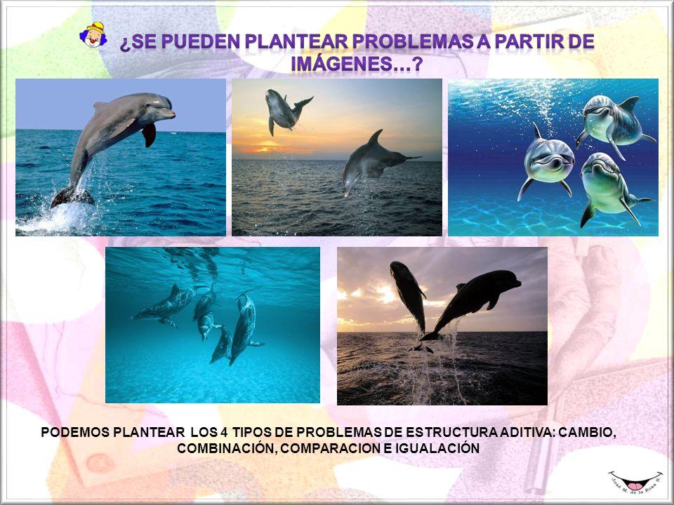 PODEMOS PLANTEAR LOS 4 TIPOS DE PROBLEMAS DE ESTRUCTURA ADITIVA: CAMBIO, COMBINACIÓN, COMPARACION E IGUALACIÓN