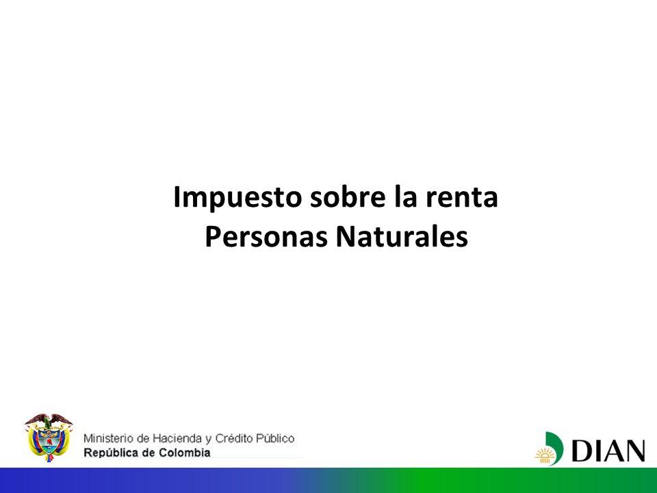 Impuesto sobre la renta Personas Naturales
