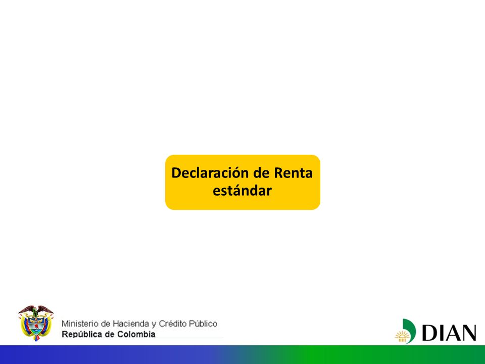 Declaración de Renta estándar