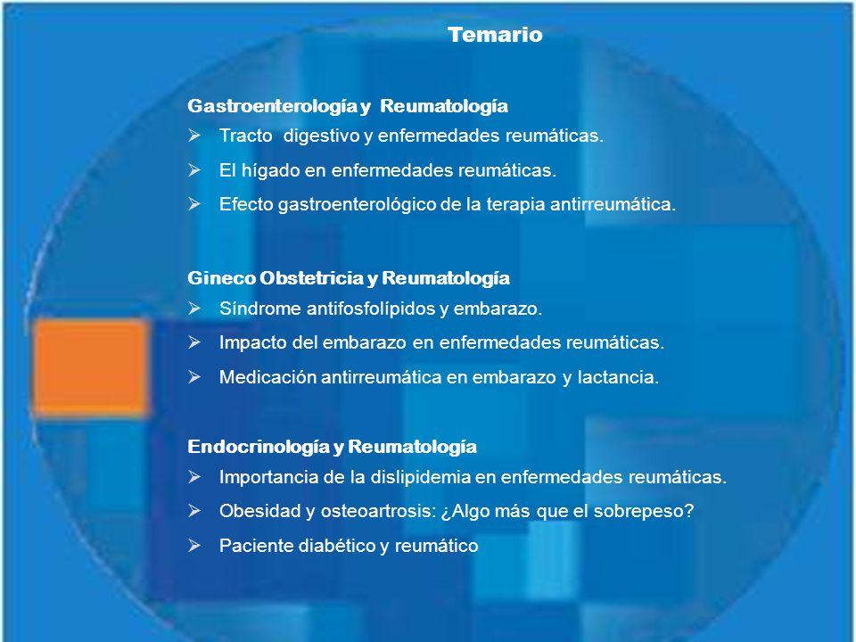 Temario Gastroenterología y Reumatología Tracto digestivo y enfermedades reumáticas.